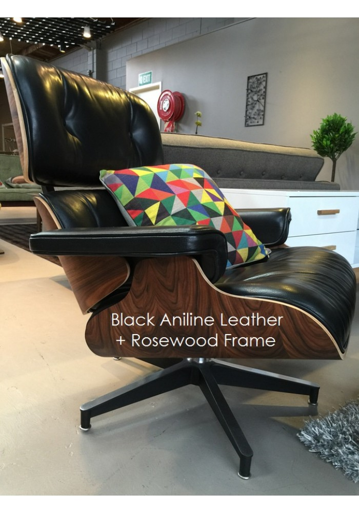 replica eames lounge chair premium aniline leather